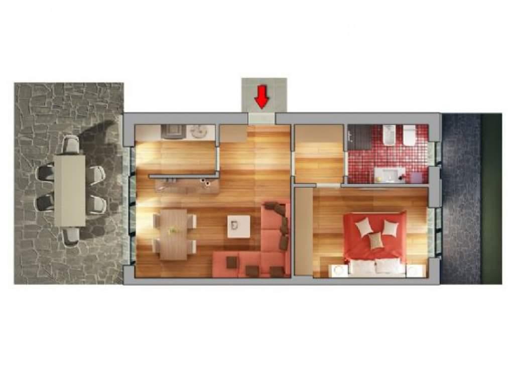 Casa Unika Andora planimetria bilocale 1