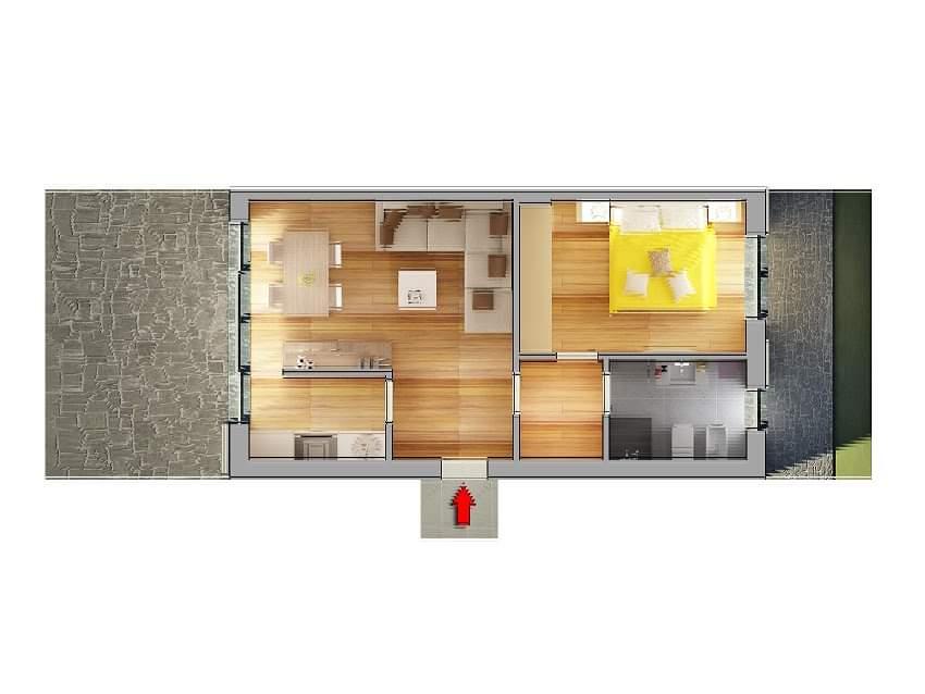 Casa Unika Andora planimetria bilocaleB 1