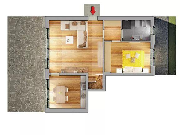 Casa Unika Andora planimetria trilocaleB 1